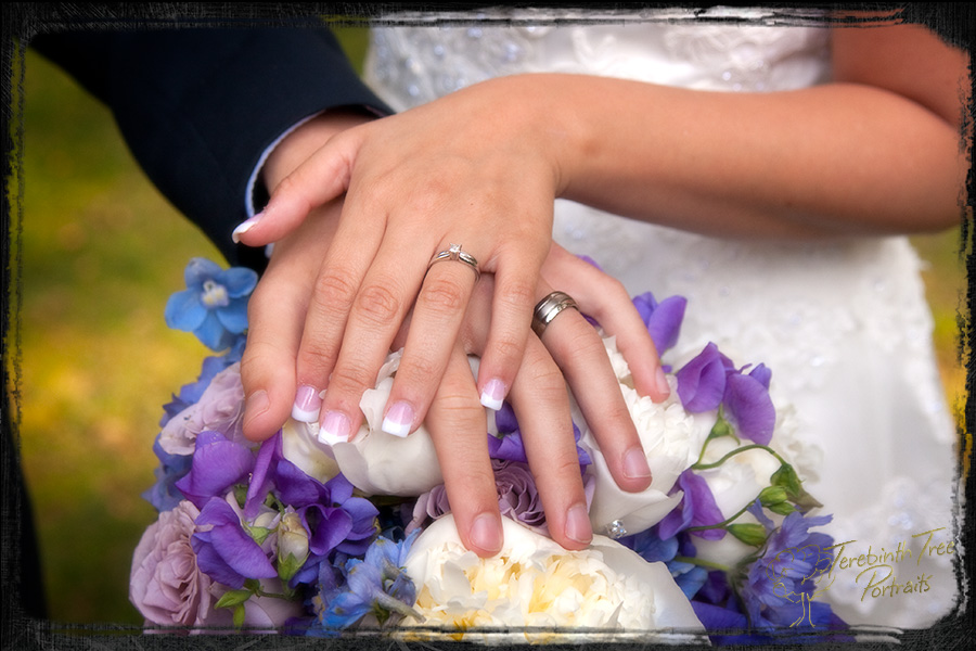Closeup photo of Brooke & Daniel's wedding rings