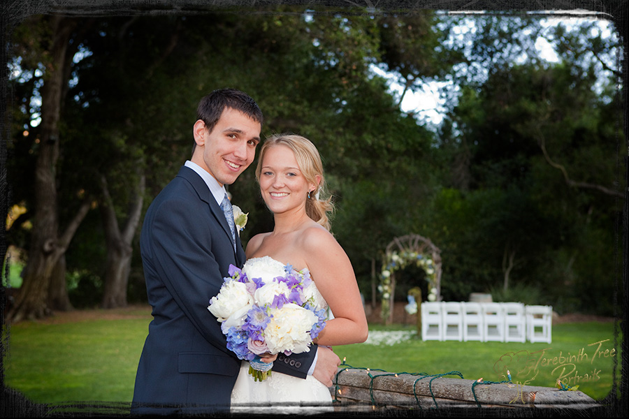 Photo of Brooke and Daniel at their wedding at the Temecula Creek Inn