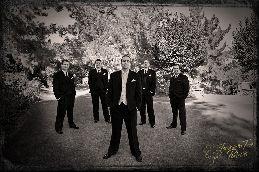 Photo of Matt and his groomsmen at his wedding in Fallbrook
