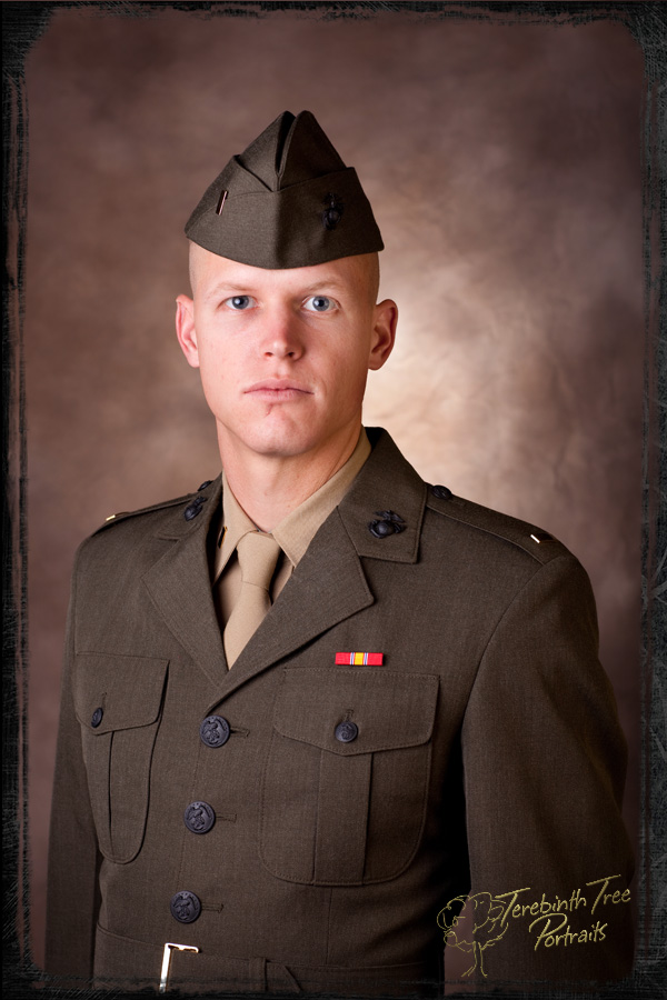 Portrait taken in Temecula of US Marine Corps 2nd Lieutenant