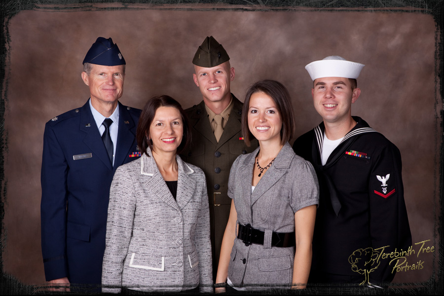Portrait Air Force, Marine Corps, Navy