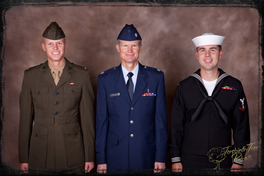 Portrait Marine Corps, Air Force, Navy