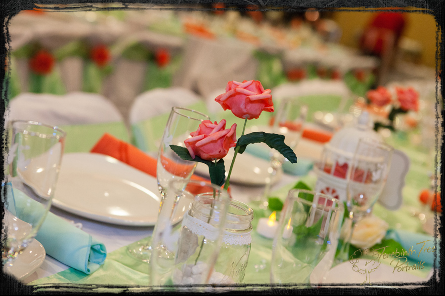 Reception detail - set tables