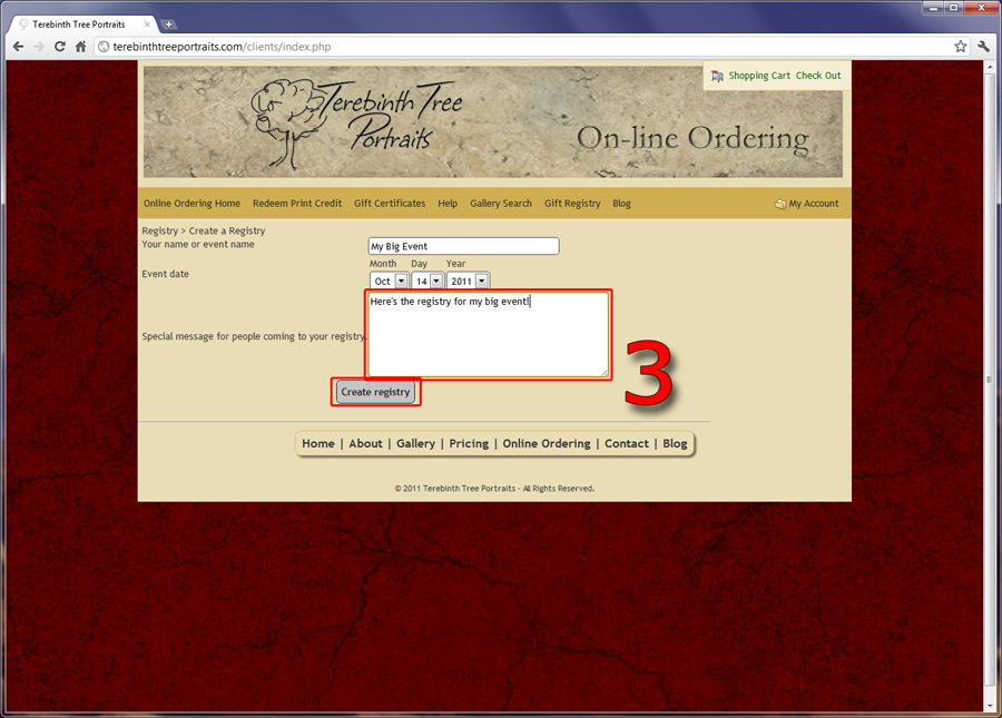 Creating Online Registry