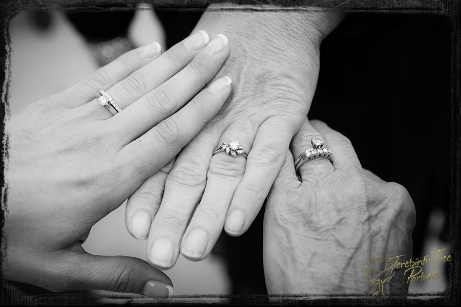 Three generations of wedding rings!